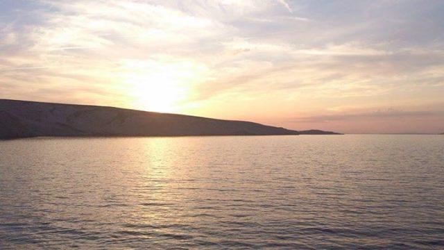 Sunrise over Zrce Beach