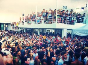 Massive crowd at Aquarius for Liebing's day show. He covered for Marcel Dettmann who couldn't make it.