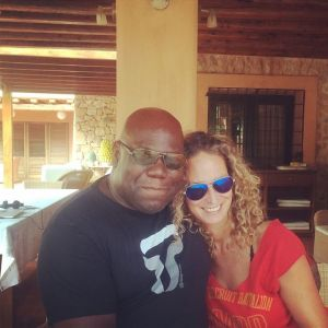 Kruse with the big boss Carl Cox