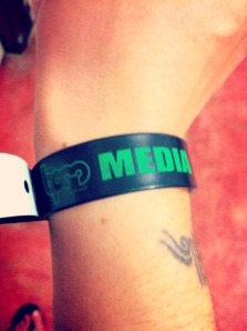 Whatchu know about that MEDIA wristband? >;)